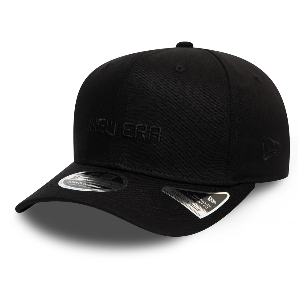 New Era Essential All Black Stretch Snap 9FIFTY Cap