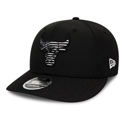 Cappellino 9FIFTY Monotape dei Chicago Bulls nero