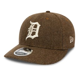 Gorra Detroit Tigers 9FIFTY de bajo perfil de tweed, marrón