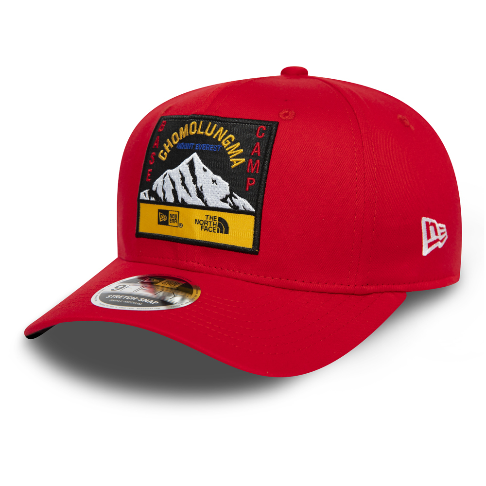 Casquette 9FIFTY extensible rouge avec languette de réglage par New Era en collaboration avec The North Face