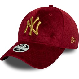 Gorra New York Yankees Womens Quilted 9FORTY, rojo