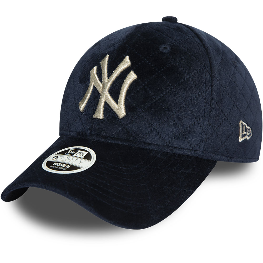 New York Yankees Womens Quilted Navy 9FORTY Cap