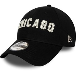 Chicago Bulls Felt Script Black 9FORTY Cap