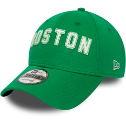 Cappellino 9FORTY con scritta in feltro dei Boston Celtics verde
