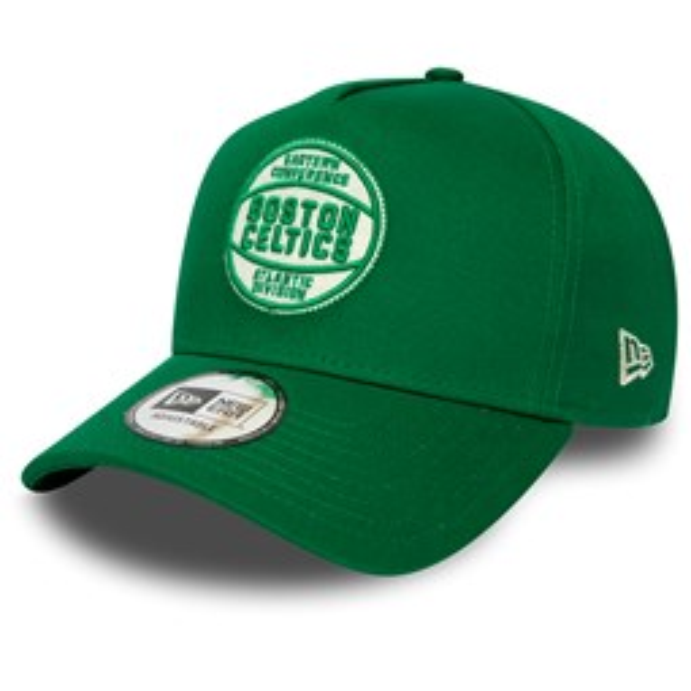 Casquette Trucker A Frame verte avec écusson en feutre des Celtics de Boston