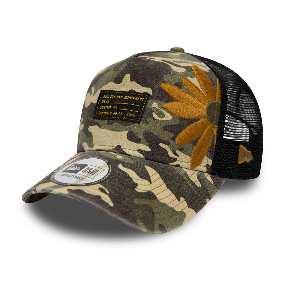 NEW ERA – Trucker-Kappe mit Camouflage-Design – Military Flower