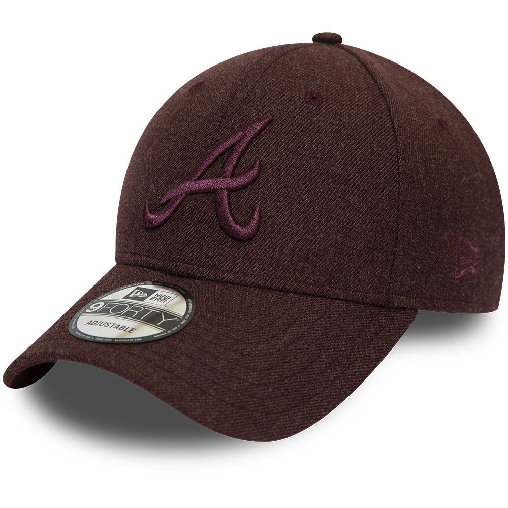 Kastanienbraune 9FORTY-Kappe – Atlanta Braves – Winterised League