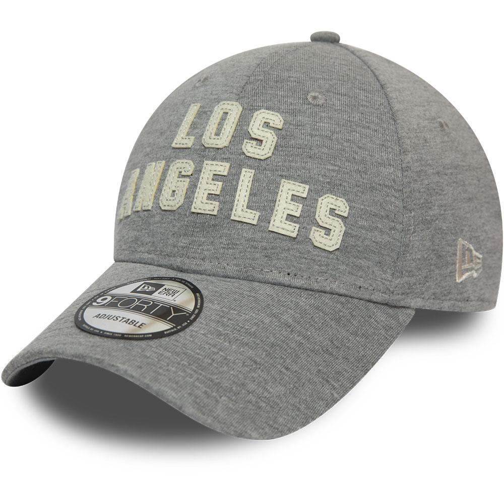 Casquette 9FORTY gris avec script en feutre des Lakers de Los Angeles