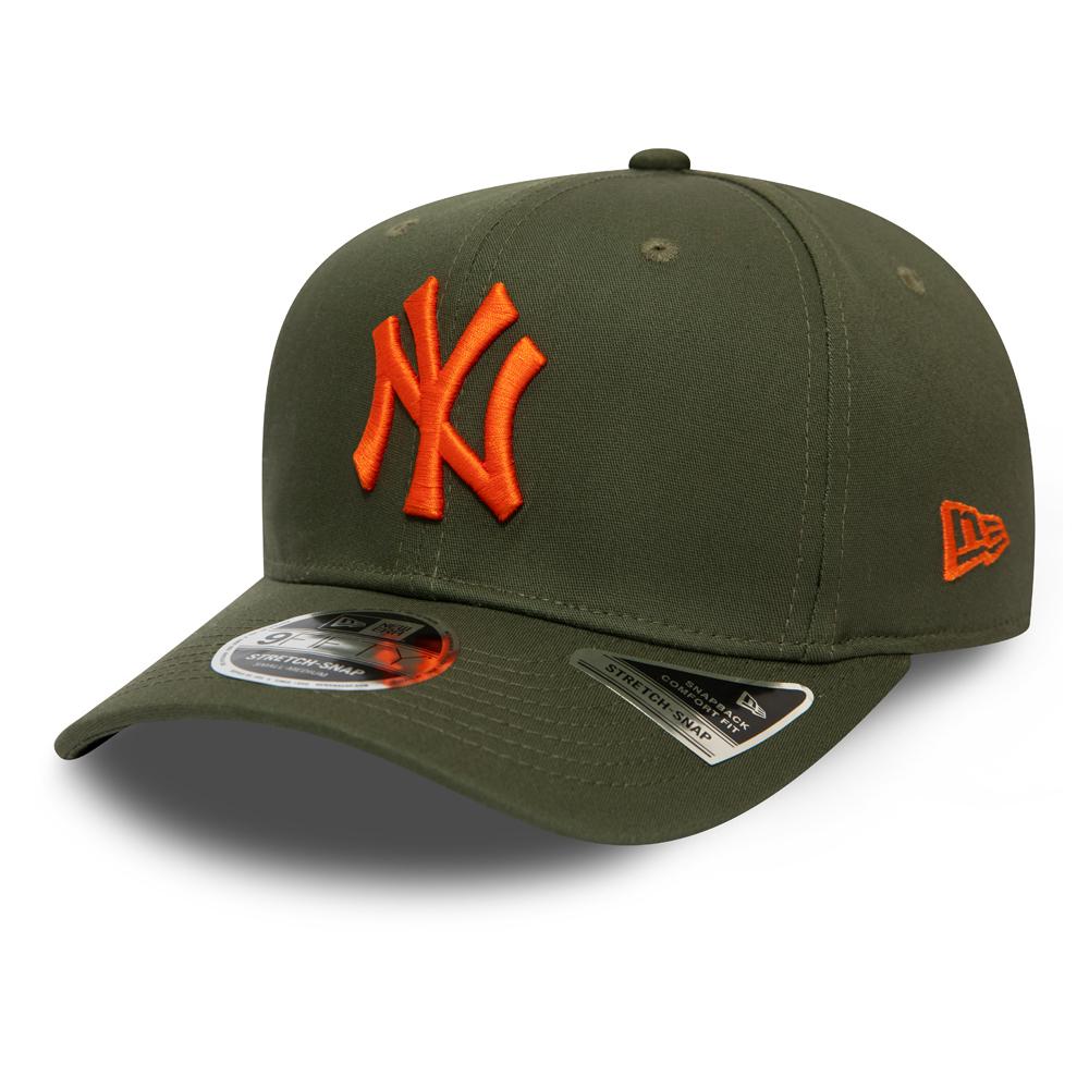 Olivgrüne 9FIFTY-Kappe mit Clipverschluss – Stretch – New York Yankees