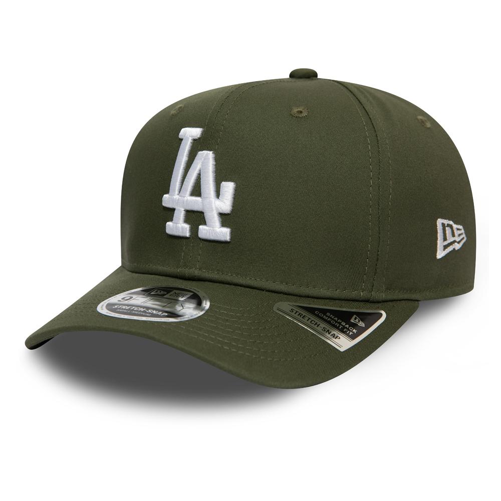 Casquette 9FIFTY extensible vert olive avec languette de réglage crantée des Dodgers de Los Angeles