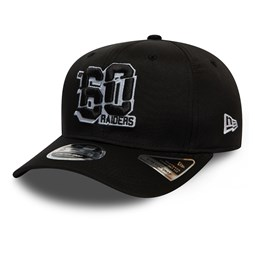 Schwarze 9FIFTY-Kappe – Number Stretch – Oakland Raiders