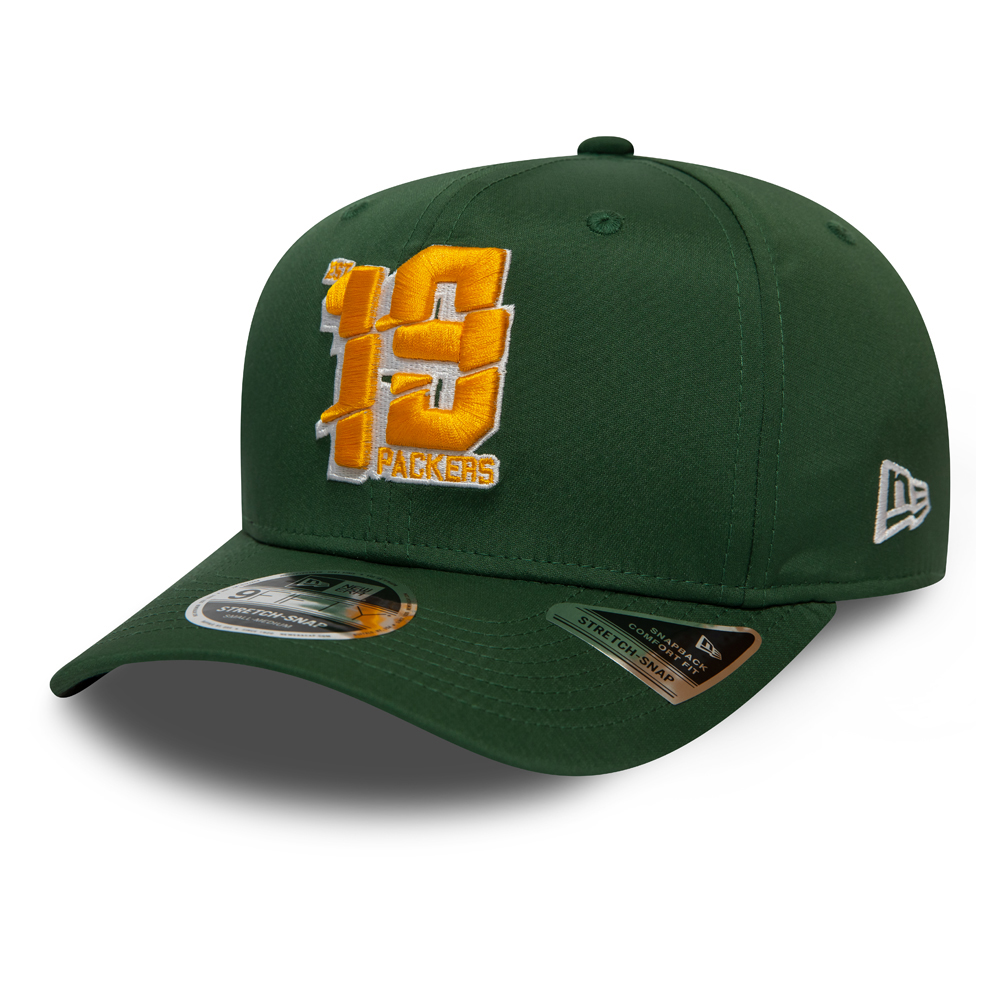Casquette 9FIFTY extensible verte des Packers de Green Bay