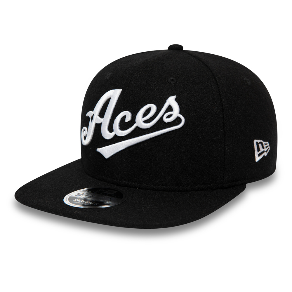Schwarze 9FIFTY-Kappe aus Wolle – Vintage – Reno Aces