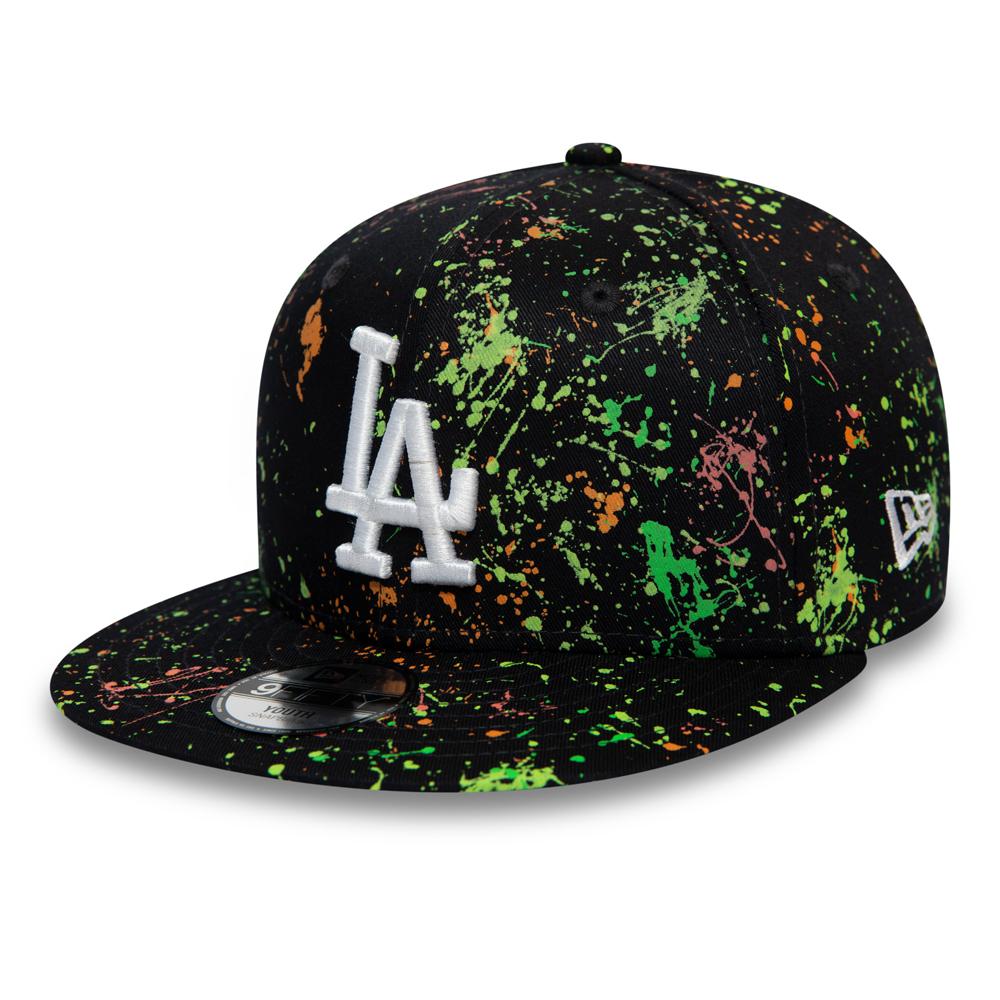 Cappellino 9FIFTY con schizzi di pittura dei Los Angeles Dodgers blu navy bambino
