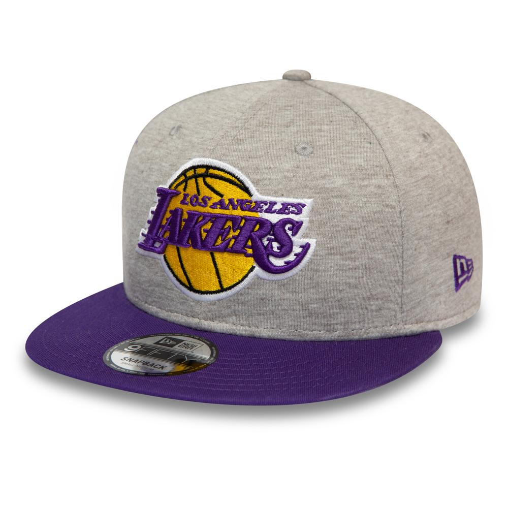 Casquette 9FIFTY Essential en jersey gris des Lakers de Los Angeles