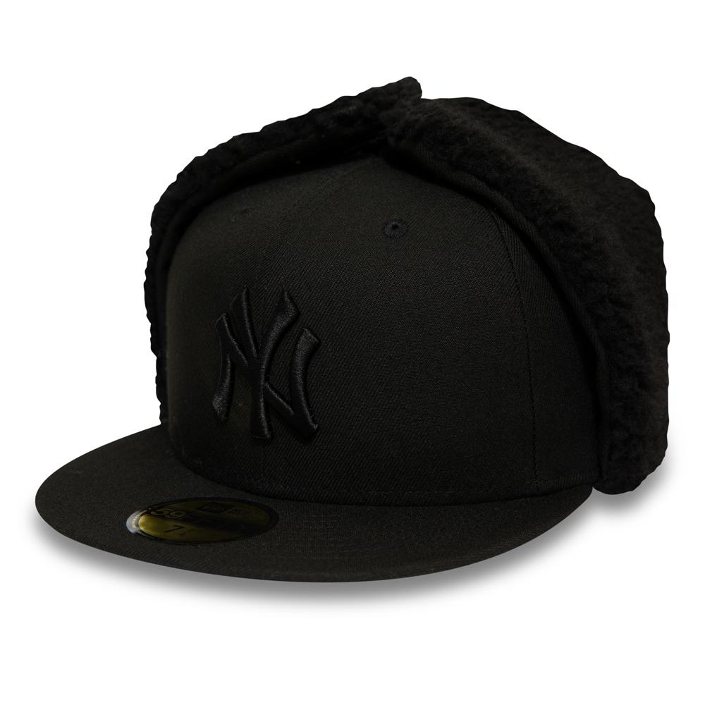 Casquette 59FIFTY League Essential avec oreilles de chien des Yankees de New York noire