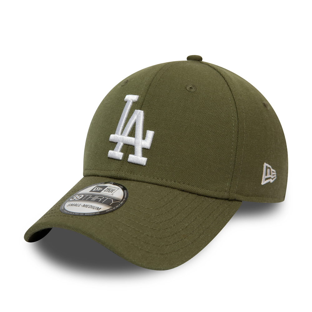 Gorra Los Angeles Dodgers Essential 39THIRTY, verde oliva