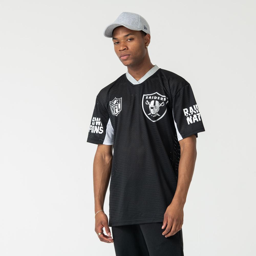 Oakland Raiders – Schwarzes Oversized-T-Shirt