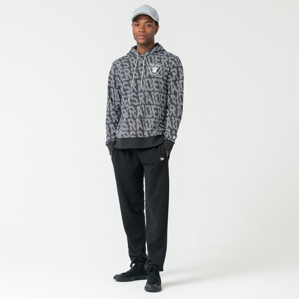 Oakland Raiders All Over Print Grey Hoodie