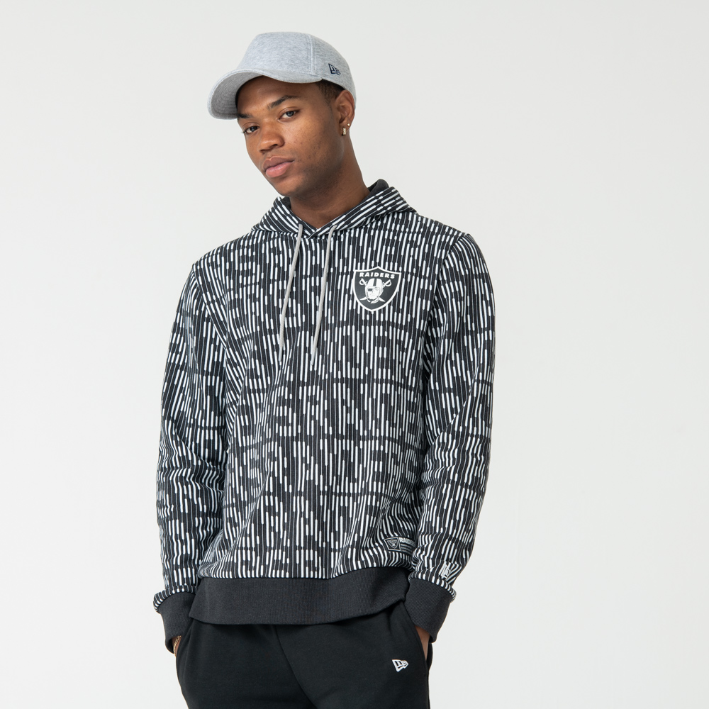 Sudadera Oakland Raiders All Over Print, gris