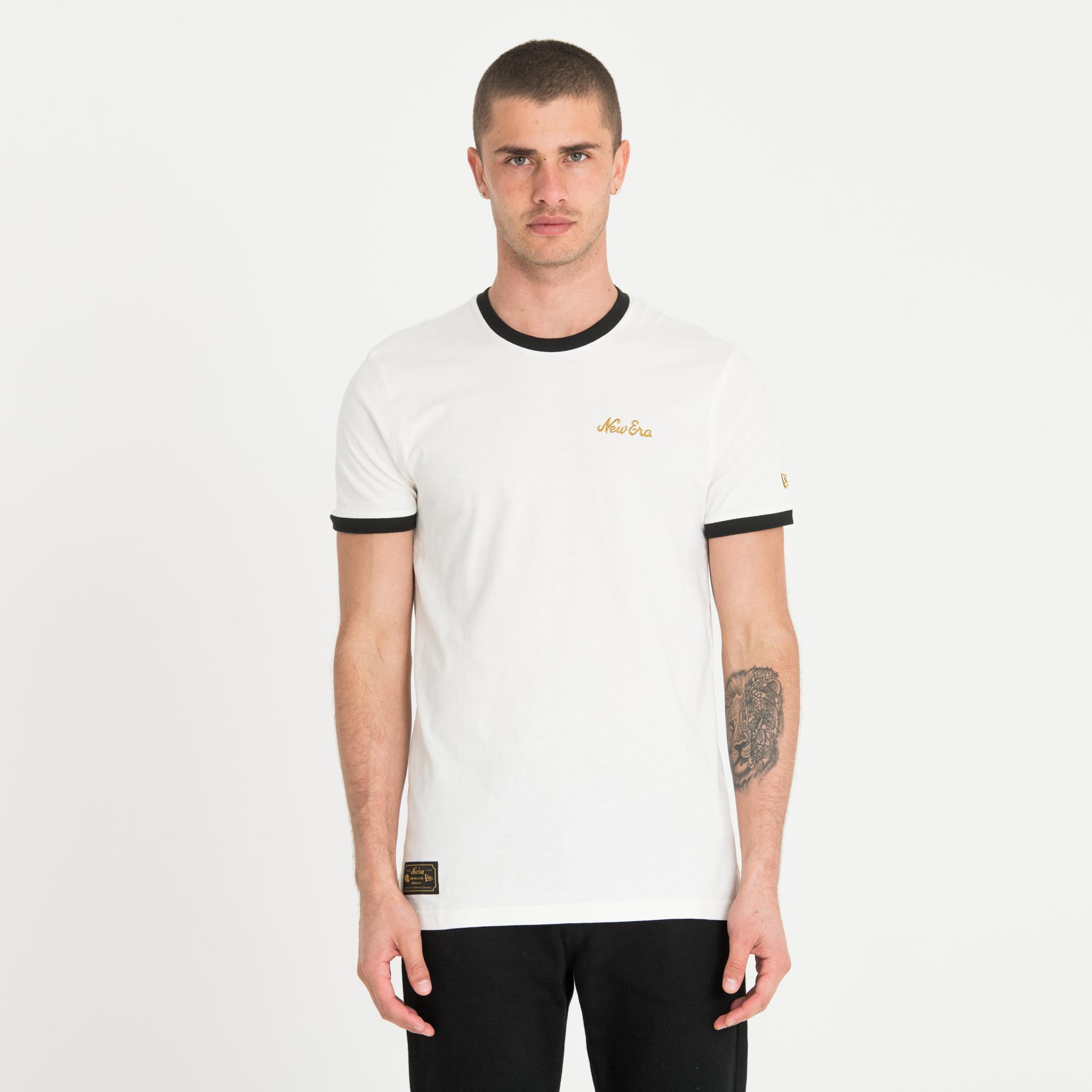 Camiseta New Era Heritage Script, blanco