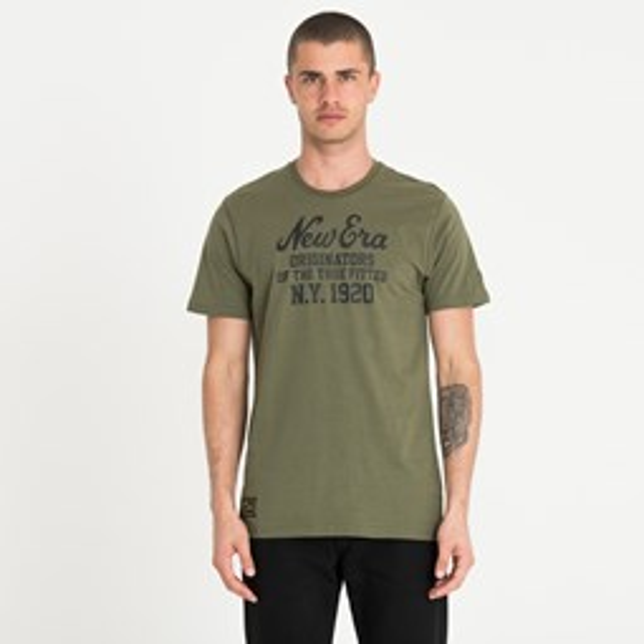 Camiseta New Era Heritage, verde