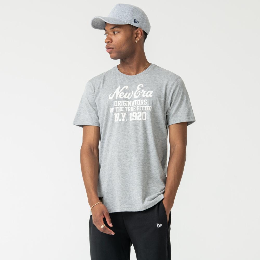 T-shirt New Era Heritage grigia