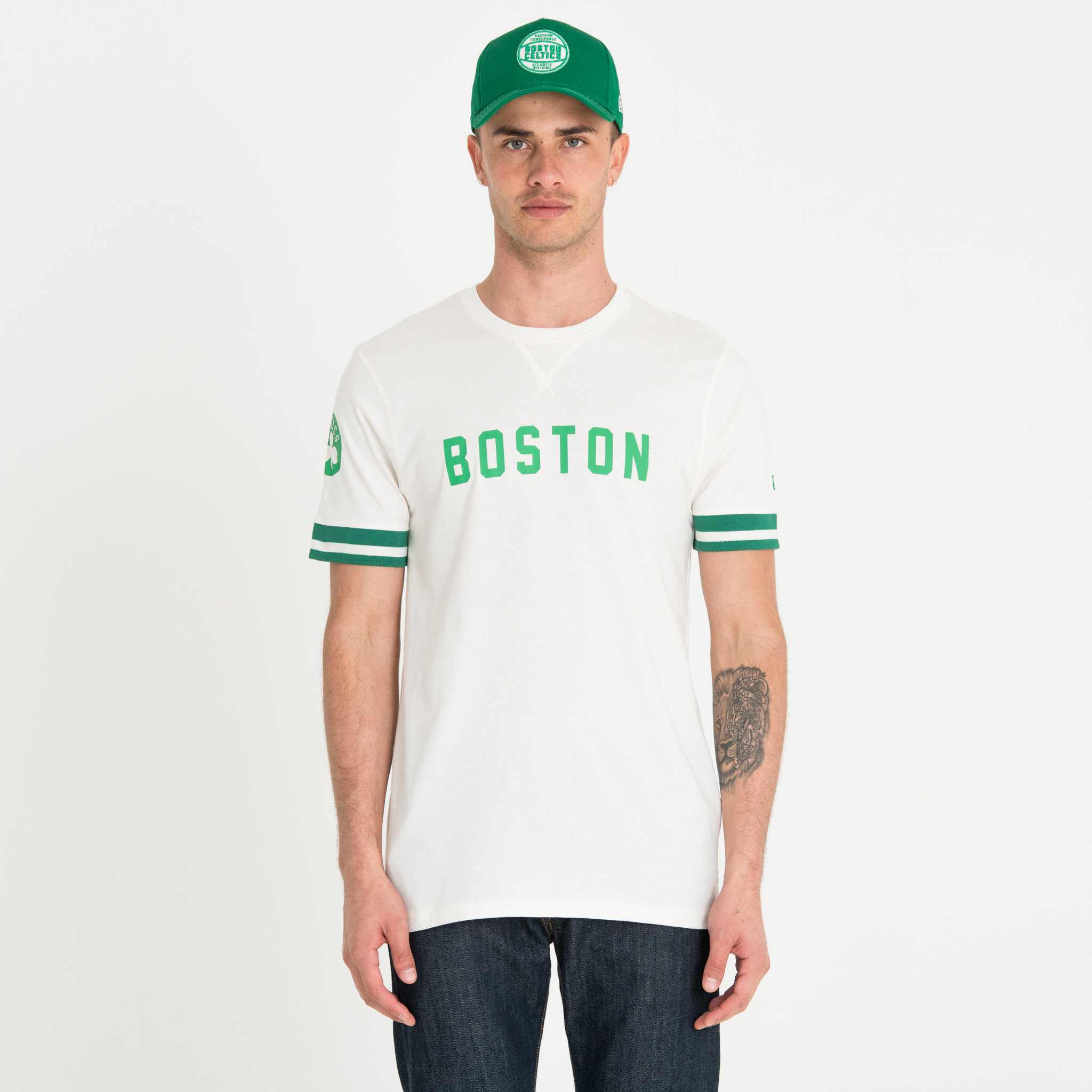 Camiseta Boston Celtics Wordmark, blanco