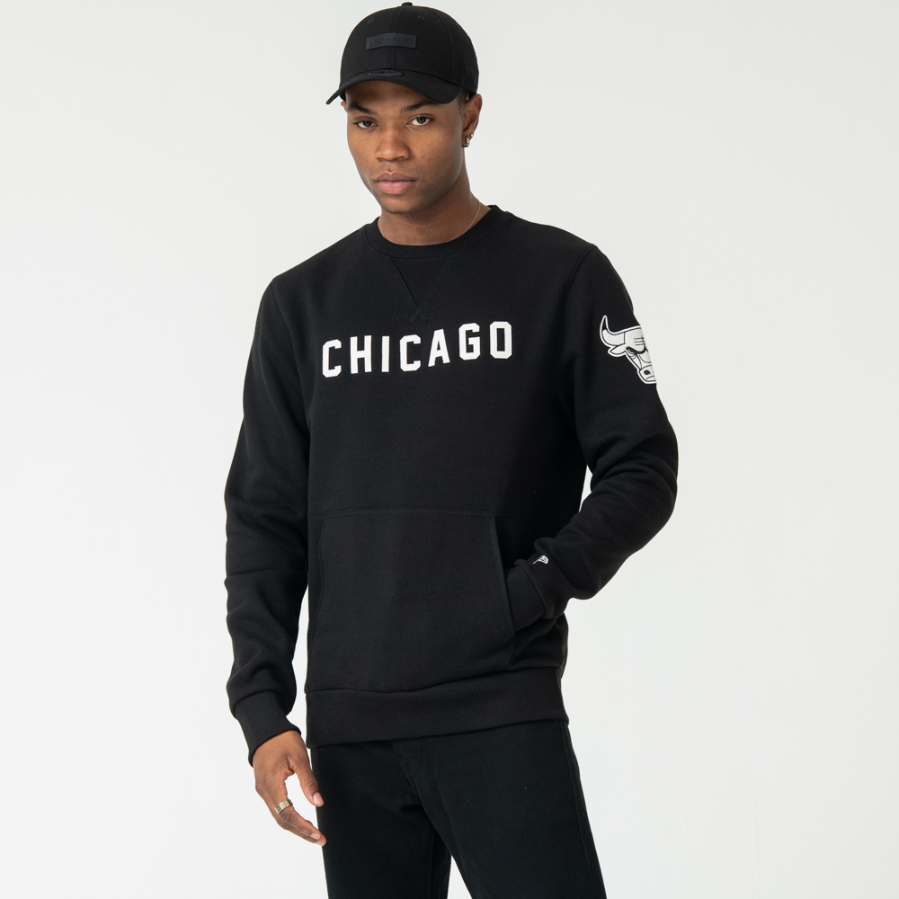 Chicago Bulls Crew Neck, negro