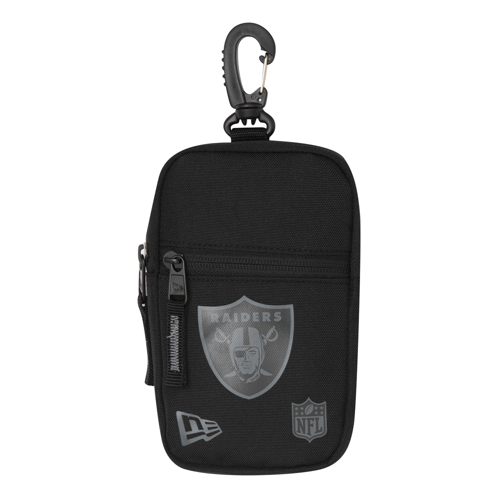 Mini bolsillo Oakland Raiders, negro