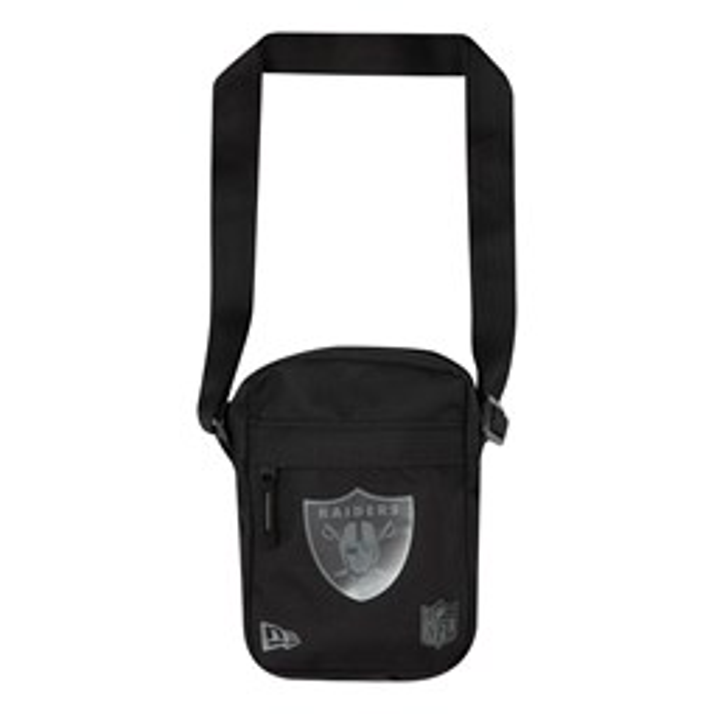 Borsa laterale con logo degli Oakland Raiders nera