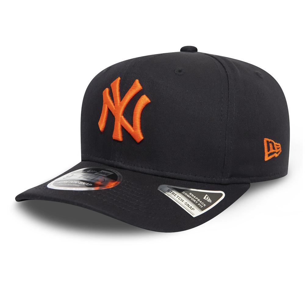 9FIFTY-Kappe in Grau mit Clipverschluss – Stretch – New York Yankees