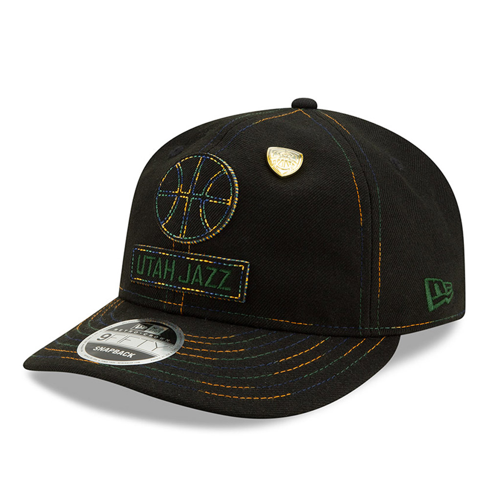 Donovan Mitchell Utah Jazz Stitch Detail Black 9FIFTY Cap