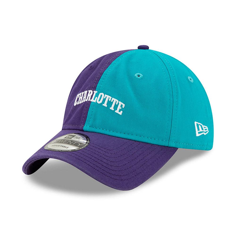 Casquette 9TWENTY Snapback Hard Wood Classic Charlotte Hornets violette