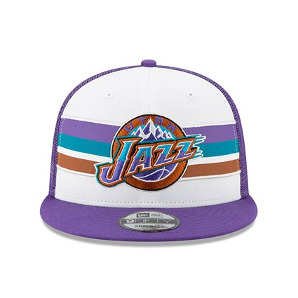 Utah Jazz Purple Hard Wood Classic 9FIFTY Cap