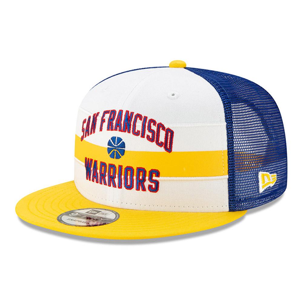 Golden State Warriors – Klassische Hard Wood 9FIFTY-Kappe mit Clipverschluss