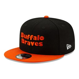 Casquette 9FIFTY Hard Wood Classic noire des Buffalo Braves