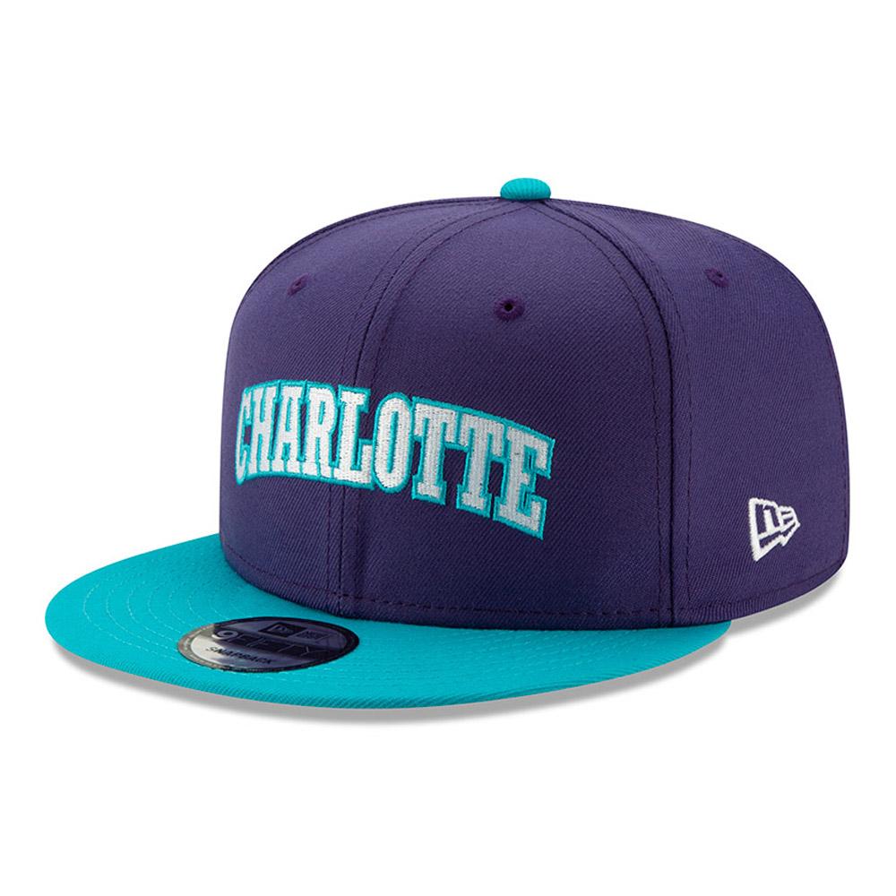 Casquette 9FIFTY Hard Wood Classic violette des Charlotte Hornets
