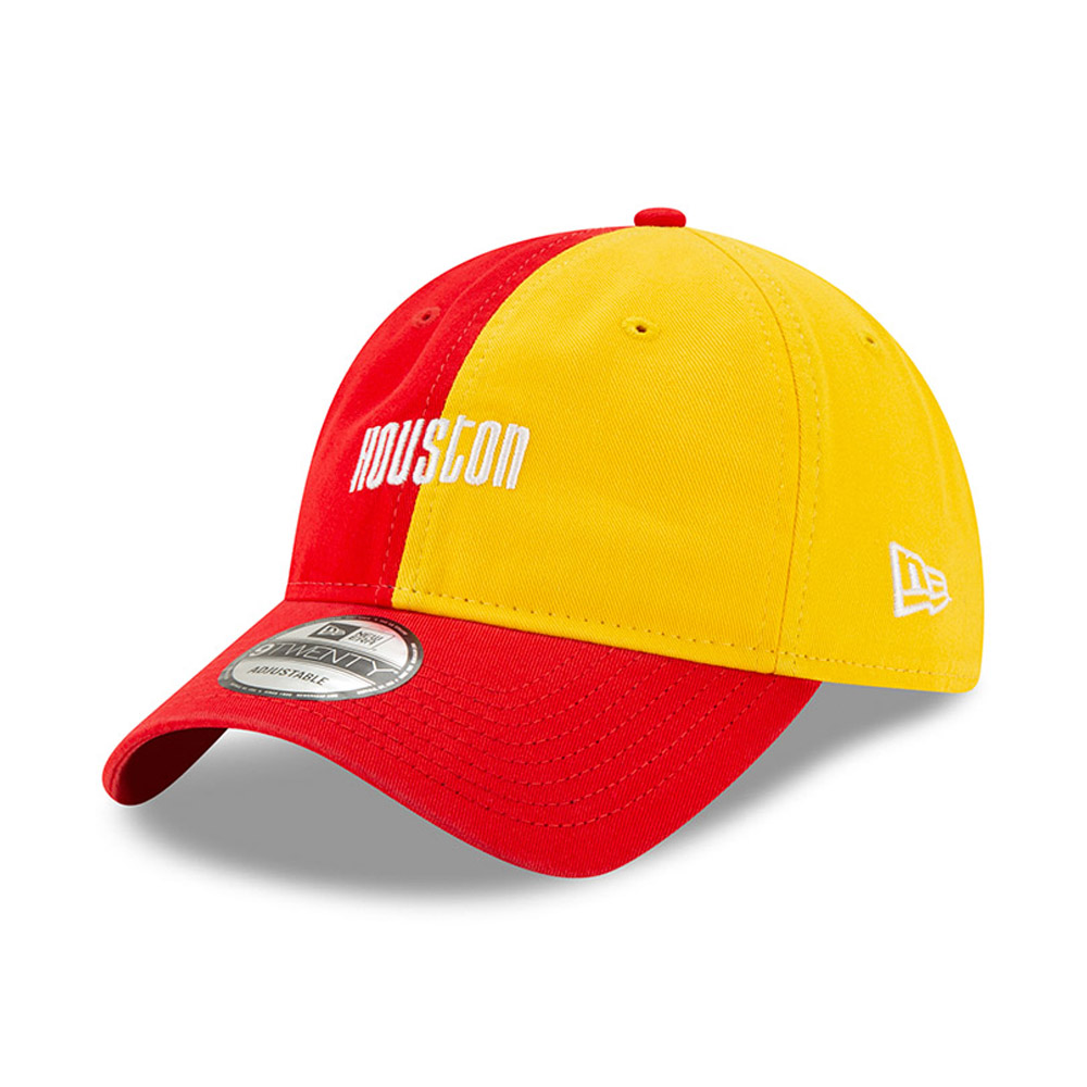 Casquette 9TWENTY Hard Wood Classic rouge des Rockets de Houston