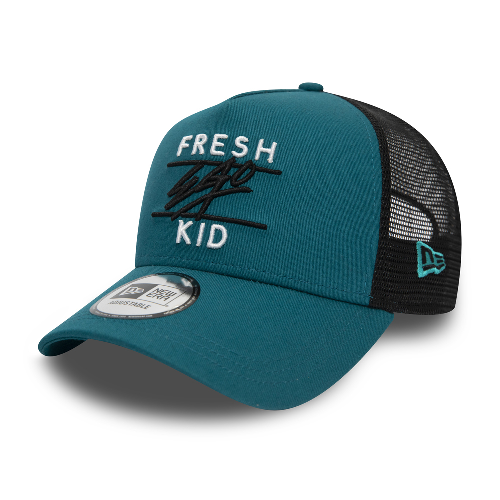 Fresh Ego Kid – Trucker-Kappe mit A-Frame in Blau
