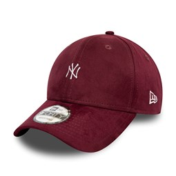Casquette 9FORTY New York Yankees en daim rouge