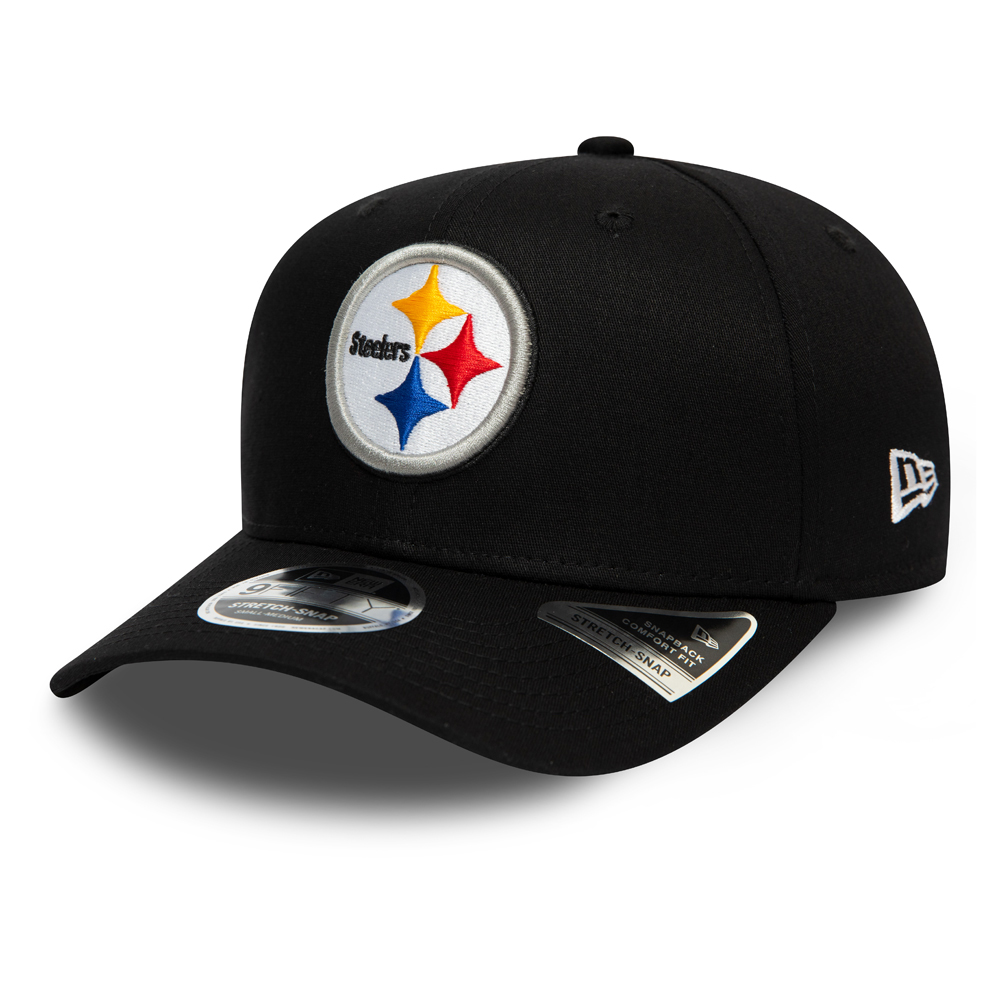 Pittsburgh Steelers Black Stretch Snap 9FIFTY Cap