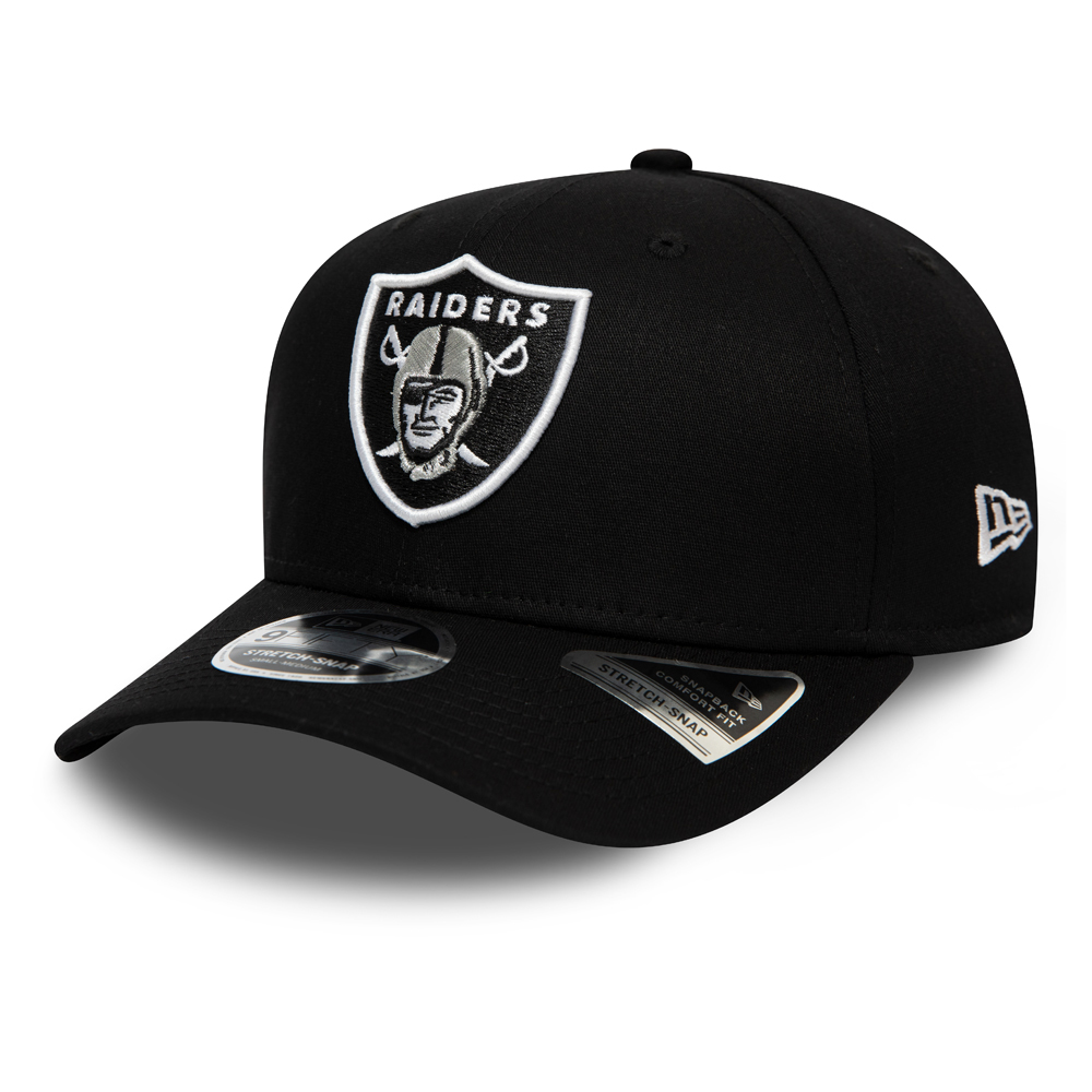 Oakland Raiders Black Stretch Snap 9FIFTY Cap