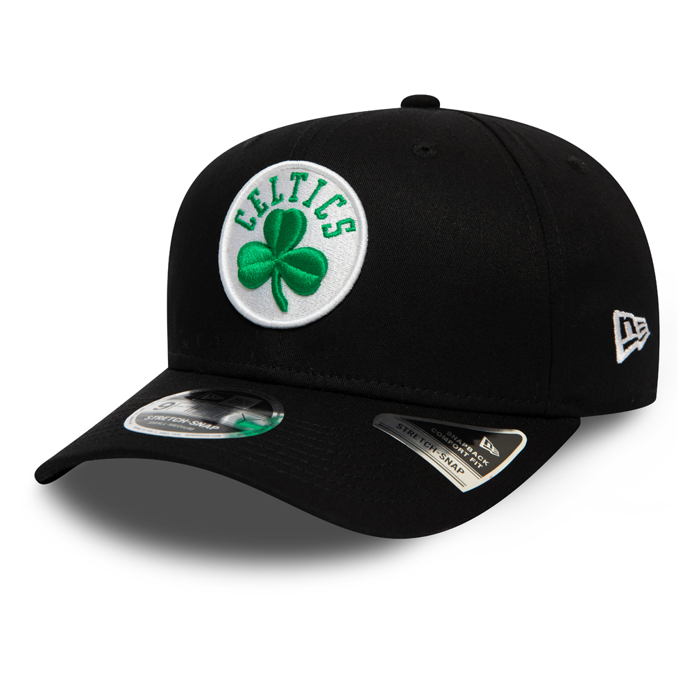 Boston Celtics – Schwarze 9FIFTY-Stretchkappe mit Clipverschluss