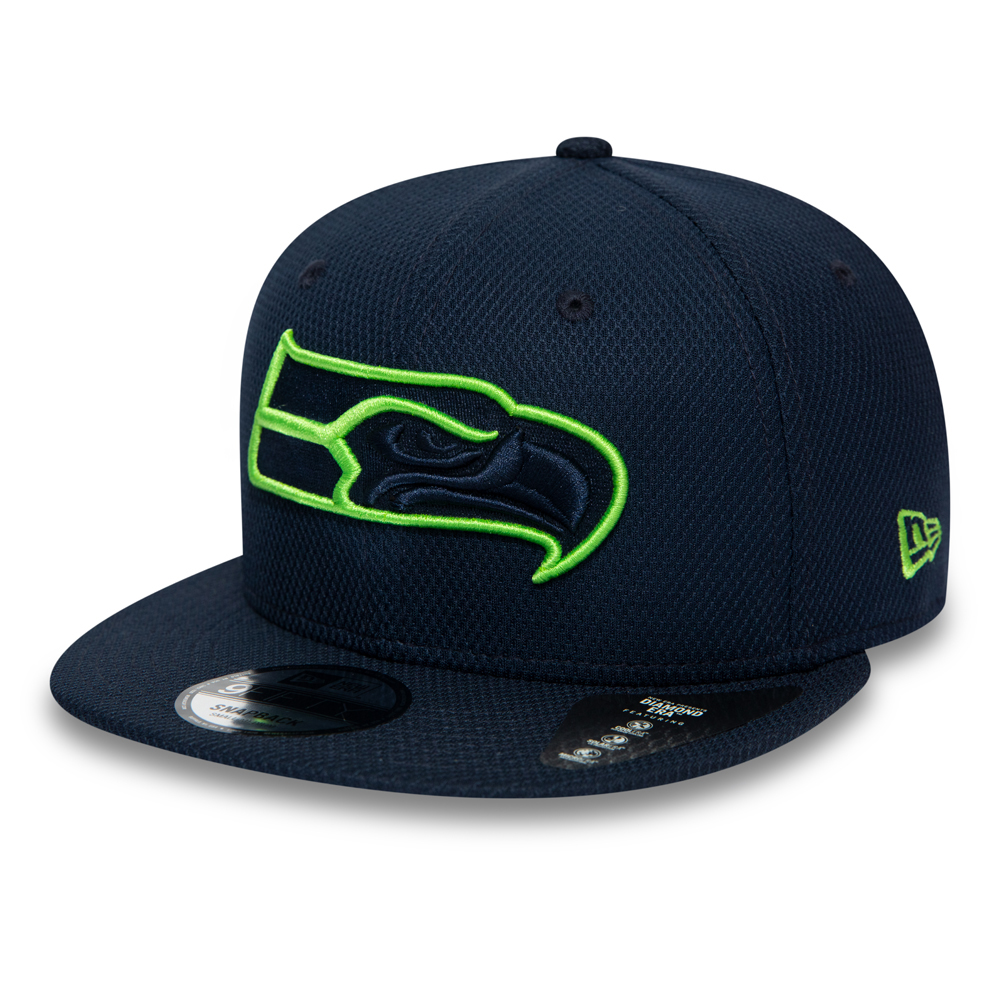 Cappellino 9FIFTY con chiusura posteriore Outline dei Seattle Seahawks blu navy