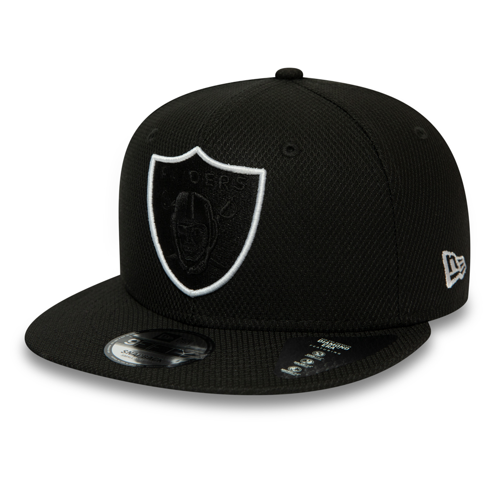 Oakland Raiders Outline Black 9FIFTY Snapback Cap
