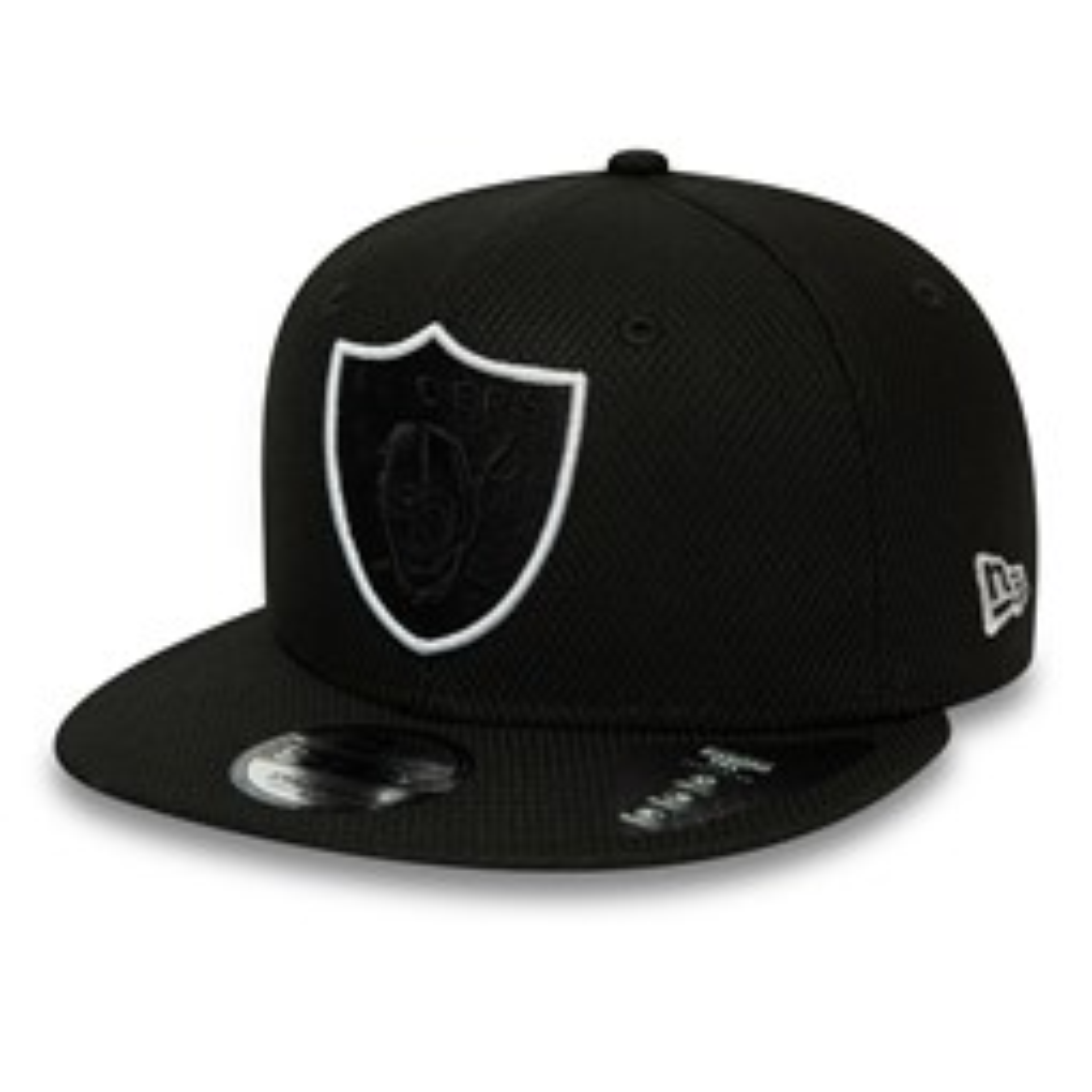 Oakland Raiders – Schwarze Outline 9FIFTY-Kappe mit Clipverschluss