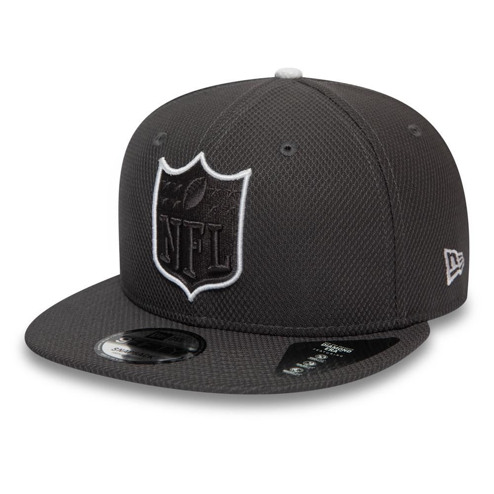 NFL – Graue Outline 9FIFTY-Kappe mit Clipverschluss und offiziellem Logo