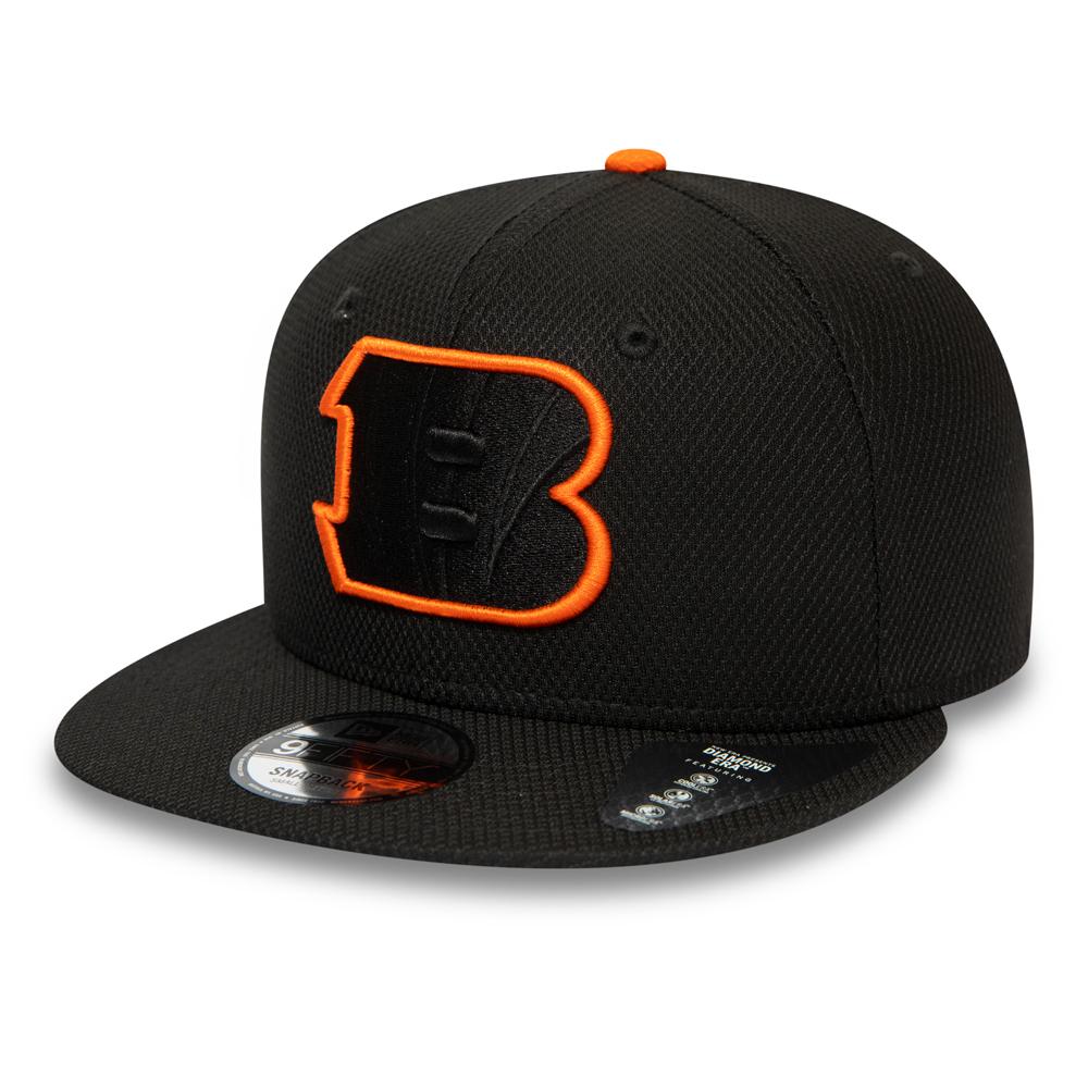 Casquette 9FIFTY noire Cincinnati Bengals Outline avec languette de réglage arrière