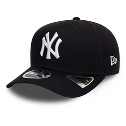 New York Yankees – Schwarze 9FIFTY-Stretchkappe mit Clipverschluss